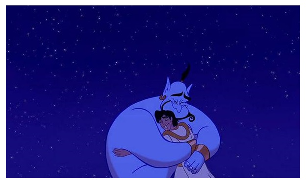 Robin Williams was the voice of the Genie. Try to fight depression