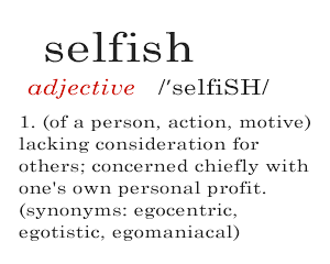 Definition of selfish. Is suicide selfish?