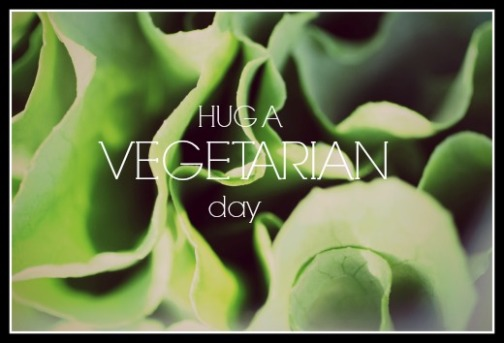 Can you go without eating meat? Hug a vegetarian day