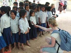 Maaike in Cambodia