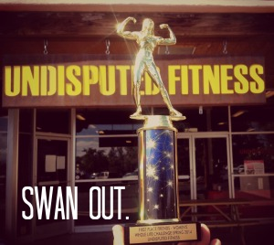 Swan out trophy
