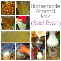 whole life challenge - making almond milk