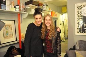 She met Idina Menzel