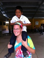 Alison volunteering in Guatemala
