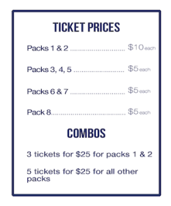 ticket prices charity raffle